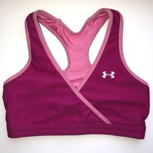 Under Armour Reversible Pink Sports Bra - Small